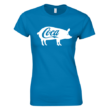 Coca női póló (türkiz)