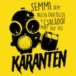 Családi karantén férfi póló (citrom)