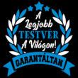 A Legjobb testvér a világon gyerek póló (B_Fekete_Kék)