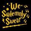 We solemnly swear női póló (B_Fekete)