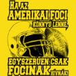 Amerikai foci férfi póló (B_Citrom)