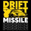Drift Missile póló (B_Fekete)
