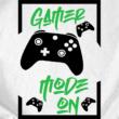 Gamer Mode On (XBOX gamer) női póló