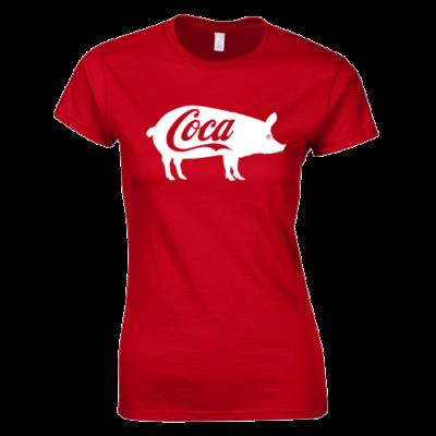 Coca női póló (piros)