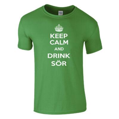 Keep Calm and Drink Sör póló (Zöld)