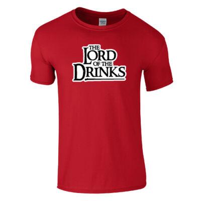 Lord of the Drinks póló (piros)
