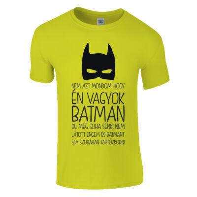 Én vagyok Batman póló (Sárga)