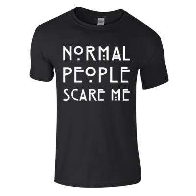 Normal people scare me póló (Fekete)