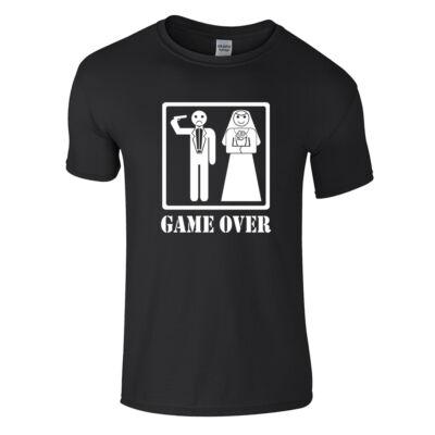 Game Over - Headshot póló (Fekete)
