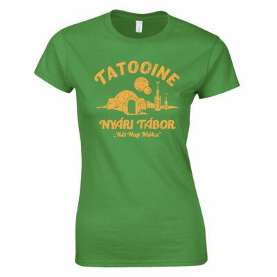 Tatooine - Nyári tábor női póló (Zöld)