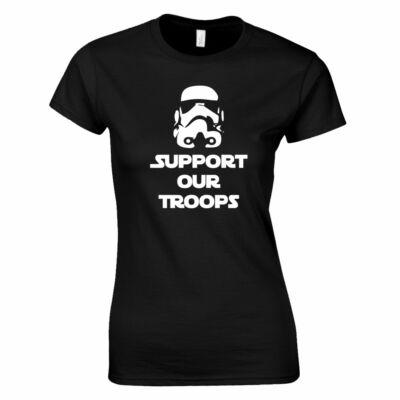 Support Our Troops női póló (fekete)