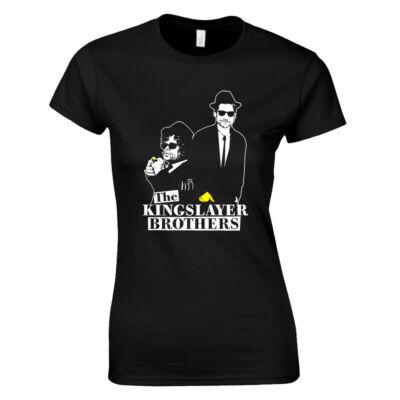 Kingslayer Brothers női póló (fekete)