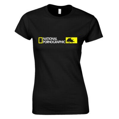 National Pornographic női póló (Fekete)