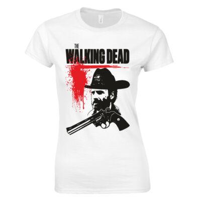 Walking Dead - Rick női póló (Fehér)