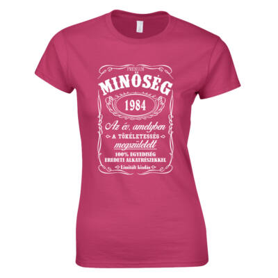 Minőség - Születésnap (Jack Daniel's) női póló (Rózsaszín)