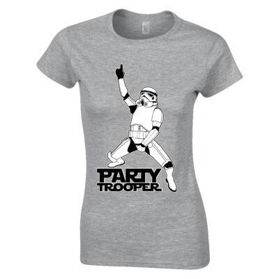 Party Trooper női póló (szürke)