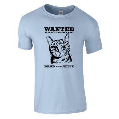 Schrödinger macskája póló (Világoskék)