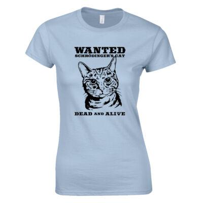 Schrödinger macskája női póló (Világoskék)