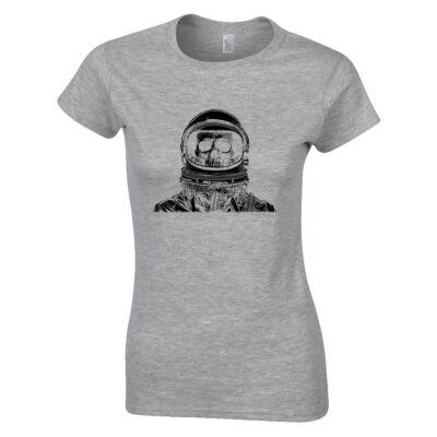 Space Skull női póló (szürke)