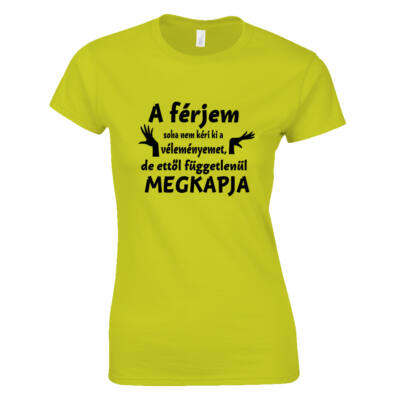 Vélemény női póló (Citrom)