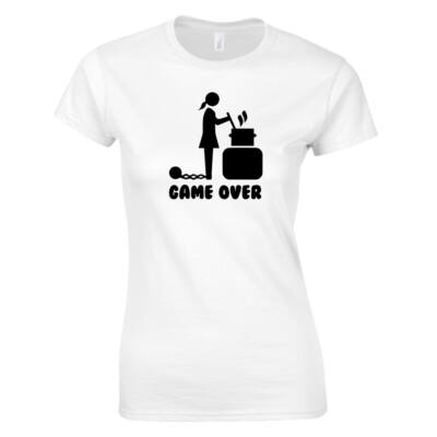 Leánybúcsú - Game Over női póló (fehér)