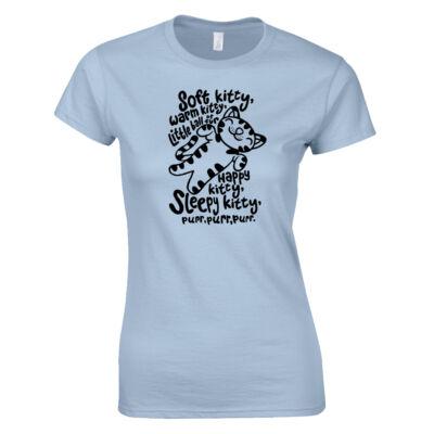 Soft Kitty női póló (világoskék)