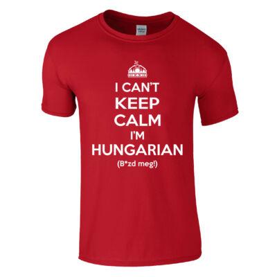 I can't keep calm póló (piros)