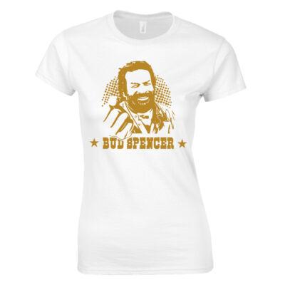 Bud Spencer  női póló (fehér)