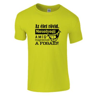 Az élet rövid póló (citrom)