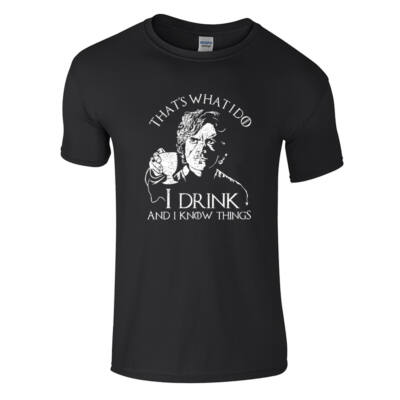 Tyrion - I drink and I know things póló (fekete)