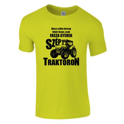 Traktoros fasza gyerek póló (Citrom)