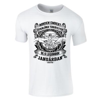 Minden embert egyenlőnek teremtettek póló (Fehér)