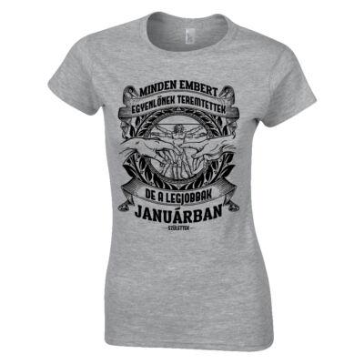 Minden embert egyenlőnek teremtettek női póló (szürke)