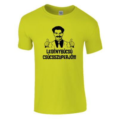 Borat legénybúcsú póló (Citrom)