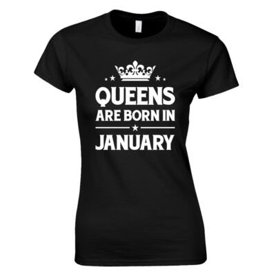 Queens are born in női póló (Fekete)