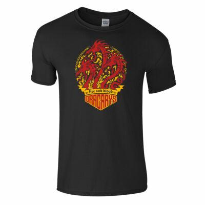 Trónok harca - Dracarys póló (fekete)