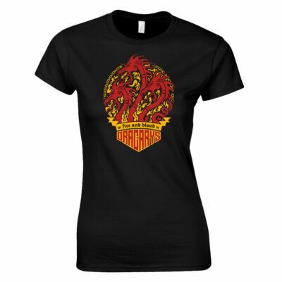 Trónok harca - Dracarys női póló (fekete)