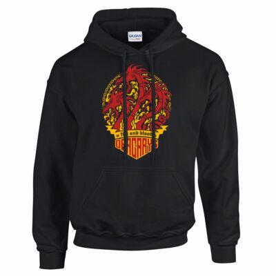 Trónok harca - Dracarys kapucnis pulóver (fekete)