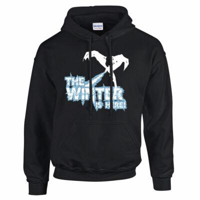 Trónok harca - Winter is here kapucnis pulóver (fekete)