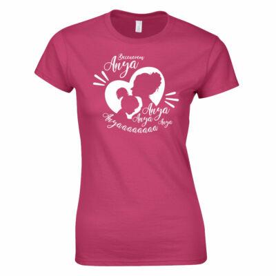 Becenevem anya női póló (rózsaszín - kislányos)