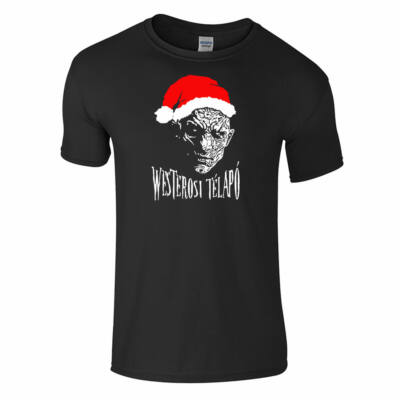 Westerosi télapó póló (fekete)