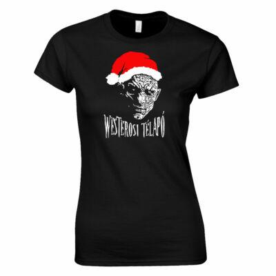 Westerosi télapó női póló (fekete)