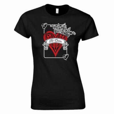 Póker - Queen női póló (fekete)