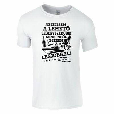 Az ízlésem a lehető legegyszerűbb póló (fehér)
