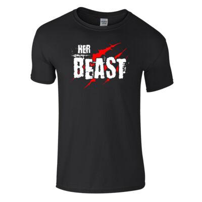 Her Beast páros póló (fekete)