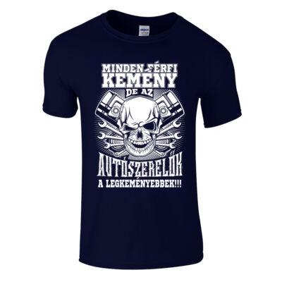 Kemény Autószerelő póló (sötétkék)