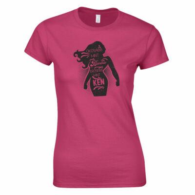 Okosabb mint Barbi női póló (rózsaszín)