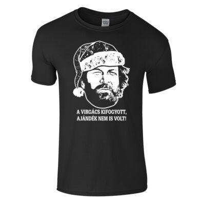 Bud Spencer - A virgács kifogyott, ajándék nem is volt póló (fekete)