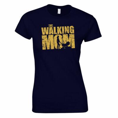 Walking mom női póló (sötétkék)