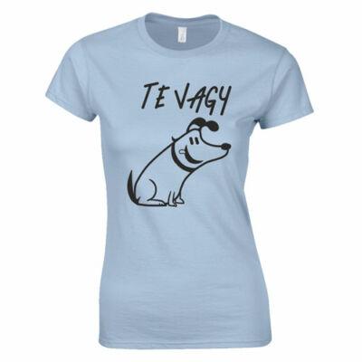 Te vagy női póló (világoskék)